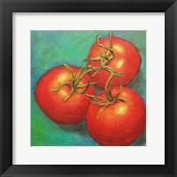 Framed Tomato Cluster of 3