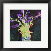 Framed Midnight Violets