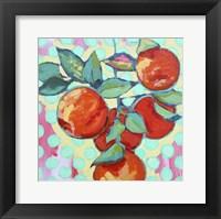 Framed Polka Dot and Electric Orange