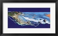 Framed California Coast