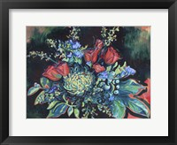 Framed Midnight Bouquet