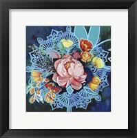 Framed Peony Bouquet Mandala