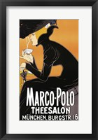 Framed Marco Polo Tea Room 1905