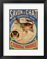 Framed Savon Le Chat Cat Soap ad