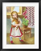 Framed Girl And Cat