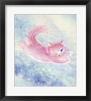 Framed Pink Cat