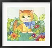 Framed Pensive Cat