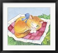 Framed Winking Cat