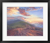 Framed Sunset in the mountains