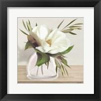 Framed Vintage Magnolia Bloom