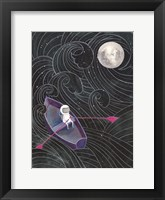 Framed Boat to the Moon