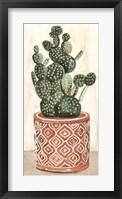 Cactus in Pot 1 Framed Print