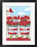 Framed Patriotic Geraniums