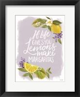 Framed Lemon Margarita