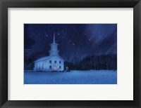 Framed Starry Night Church
