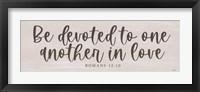 Framed Be Devoted in Love