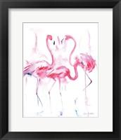 Framed Flamingo Trio