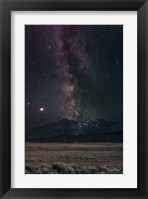 Framed Milky Way in Sawtooth Mountains