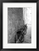 Framed Bicycles in the Alley