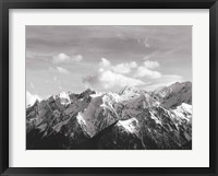 Framed Snowcapped Mountains BW Crop