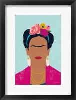 Framed Frida Kahlo I