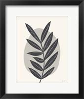 Mid Century Modern II Gray Framed Print