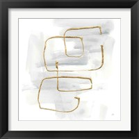 Cool Gray Gold II Framed Print