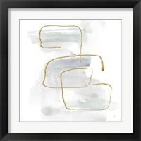 Cool Gray Gold I Framed Print