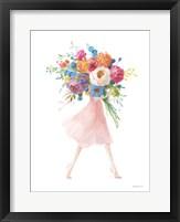 Bursting with Flowers II Framed Print