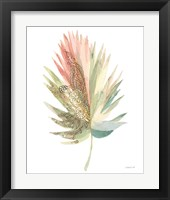 Boho Tropical Leaf IV on White Framed Print