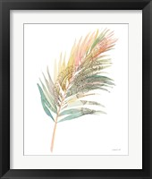 Boho Tropical Leaf III on White Framed Print