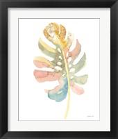 Boho Tropical Leaf II on White Framed Print
