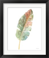 Boho Tropical Leaf I on White Framed Print