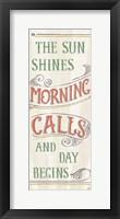 Morning Moment XI Framed Print