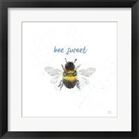 Bee Harmony VI White Framed Print