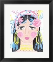 Framed Boho Lady III