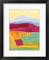 Sunny Landscape I Framed Print