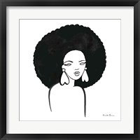 Framed Afro Girl I
