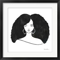 Afro Girl II Framed Print