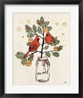 Framed Christmas Lovebirds XIV Noel