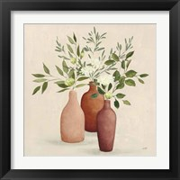 Natural Bouquet II Light Framed Print