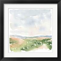 Gentle Landscape I Framed Print