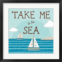 Sea and Me I Framed Print