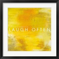 Framed Laugh Often