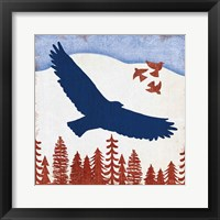 Framed Patriotic Woodland Eagle