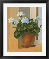 Framed Creancey Geraniums I