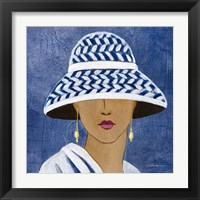 Lady with Hat II Framed Print