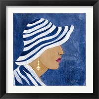 Lady with Hat I Framed Print