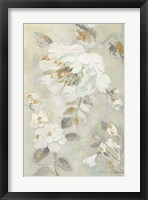 Framed Romantic Spring Flowers II White