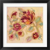 Framed Gilded Loose Floral II